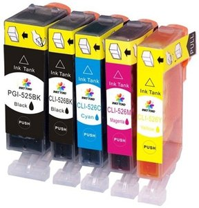 Canon PGI-525/CLI-526 Multipack compatible cartridgeset MET CHIP