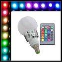 Lamp-E14-RGB-Globe-flash-bulb-LED--16-Kleuren-mét-afstandsbediening