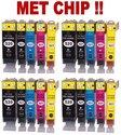 4-sets-Canon-PGI-520-CLI-521-compatible-cartridges--MET-CHIP