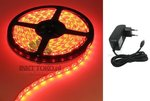 LED-set-5-meter-RED-compleet-met-TRAVO-WATERPROOF